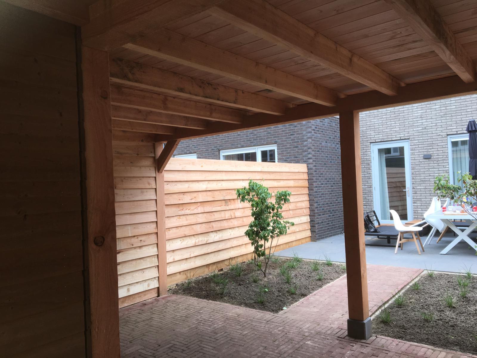 Aanleg tuin met veranda